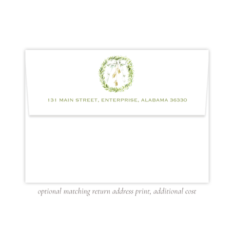 Harrington Wreath A7 Return Address Print