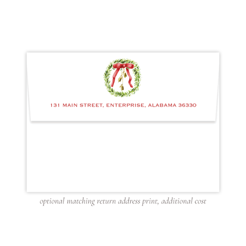 Harrington Wreath Red A7 Return Address Print