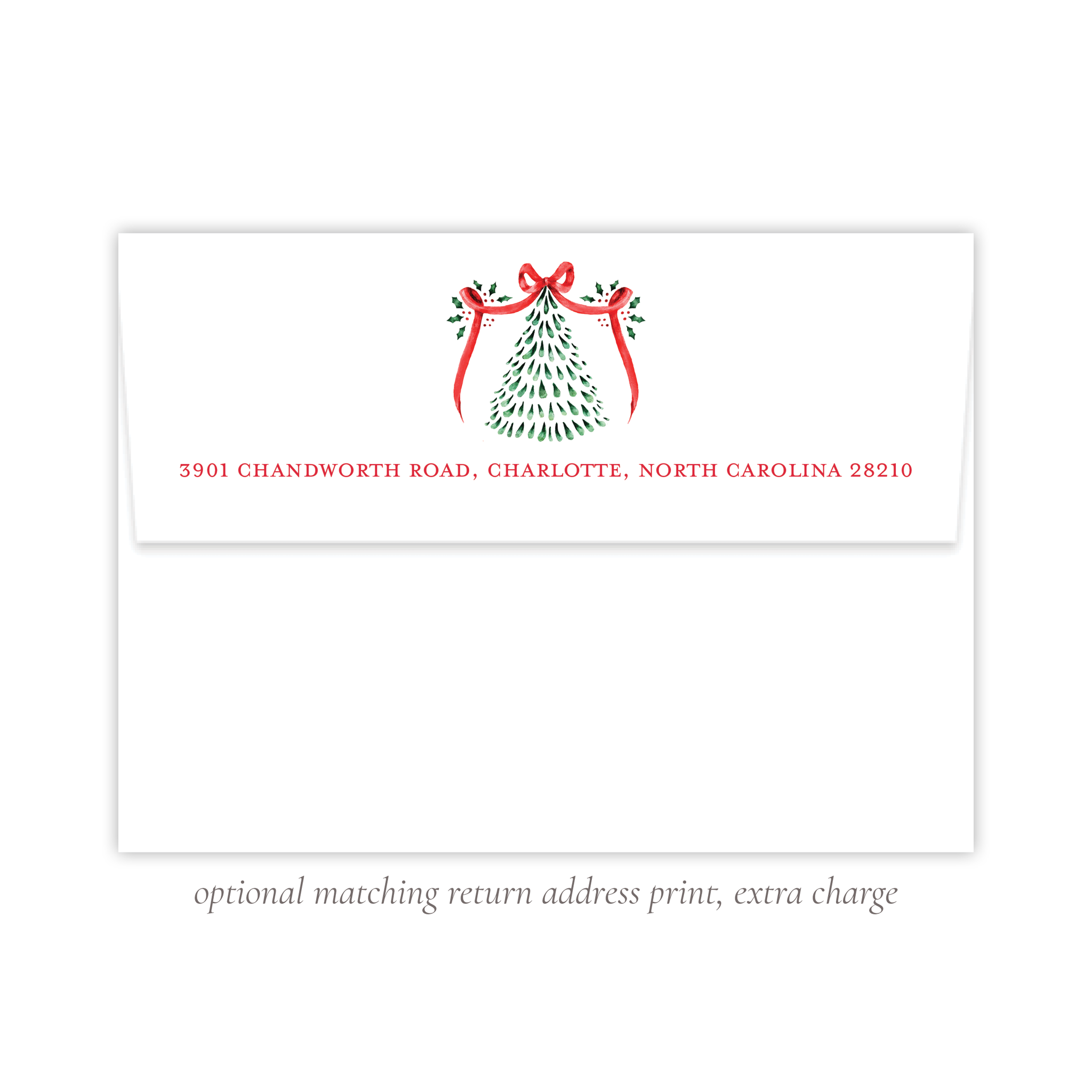 Harris Tree Red Return Address Print