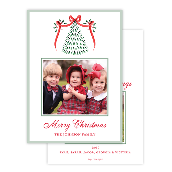 Harris Tree Red Portrait Christmas Card