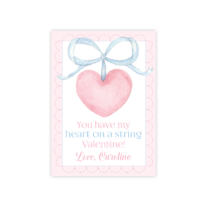 Heart on a String Valentine Card