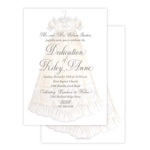 Heirloom Gown Dedication Invitation