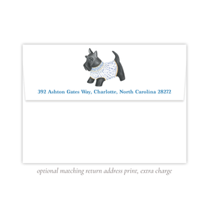 Herend Inspired Scottie Dog Return Address Print