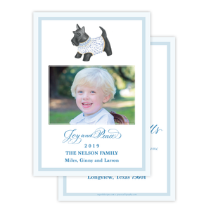 Herend Inspired Scottie Dog Change of Address Christmas Card