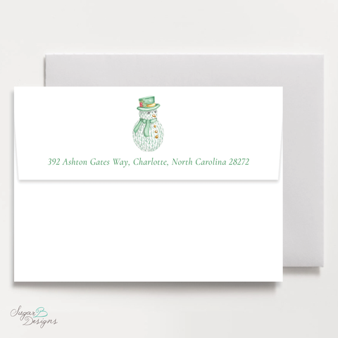 Herend Inspired Snowman Return Address Print