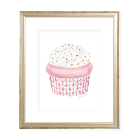 Herend Cupcake Pink Watercolor Print