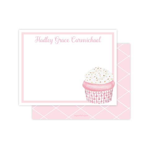 Herend Cupcake Pink Flat Stationery
