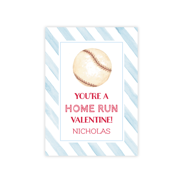 Home Run Valentine Card