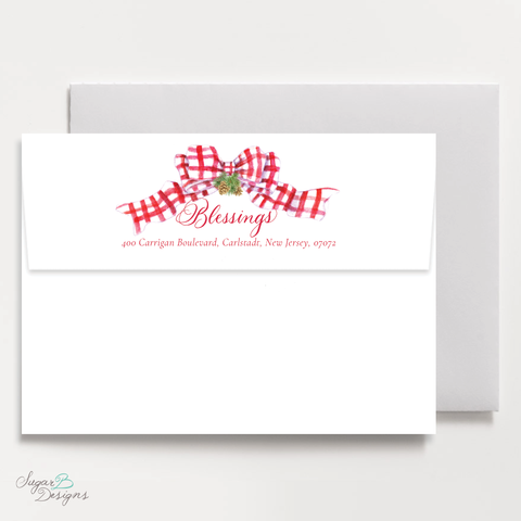 Very Hudson Hills Red Return Address Print