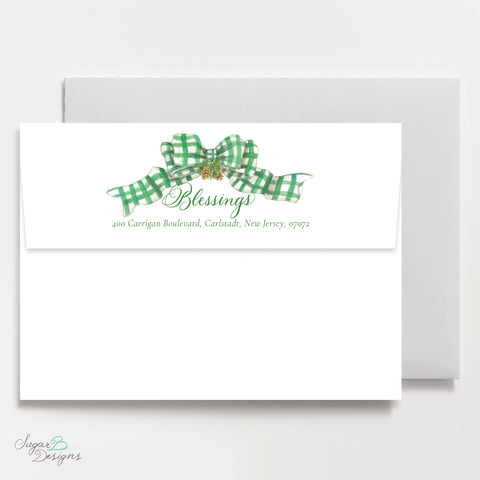 Very Hudson Hills Green Return Address Print