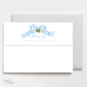 Very Hudson Hills Light Blue Return Address Print