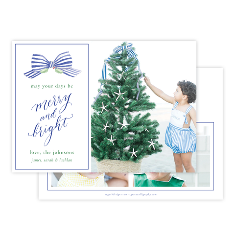 Isle of Palms Blue Christmas Card