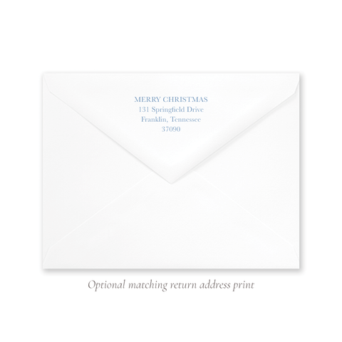 King is Born A9 Envelope Return Address Print