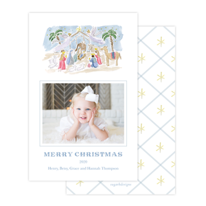 King is Born A9 Christmas Card Portrait