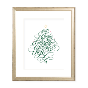 Let Us Adore Him Christmas Art Print