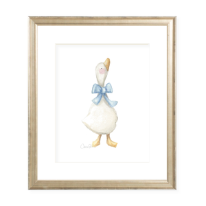 Laurie's Ducks Portrait Right Facing Watercolor Print