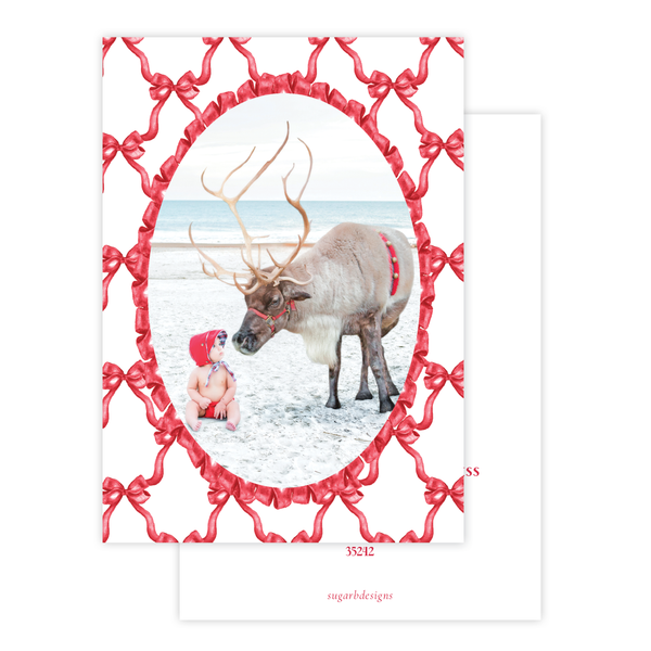 Leslee Bow Red Change of Address Christmas Card