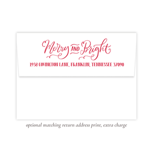 Leslee Bow Red Merry and Bright Return Address Print