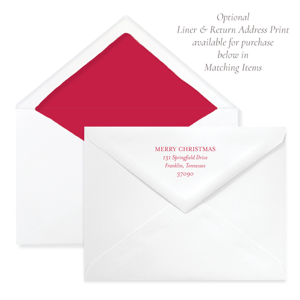 Let Us Adore Him A9 Envelope Return Address Print