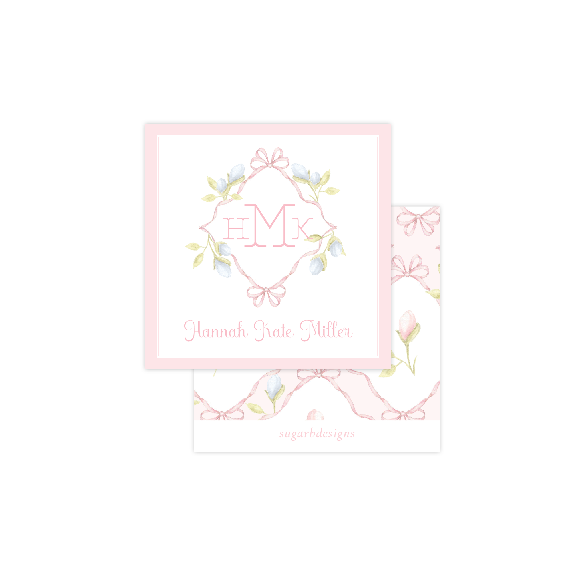 Lovely Lily James Pink Calling Card