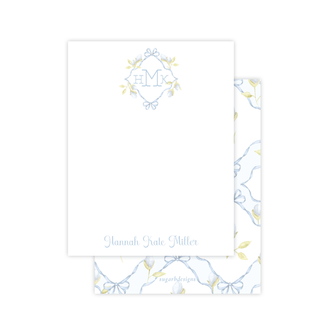 Lovely Lily James Blue Flat Stationery