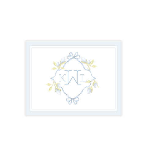 Lovely Lily James Blue Border Fold Over Stationery