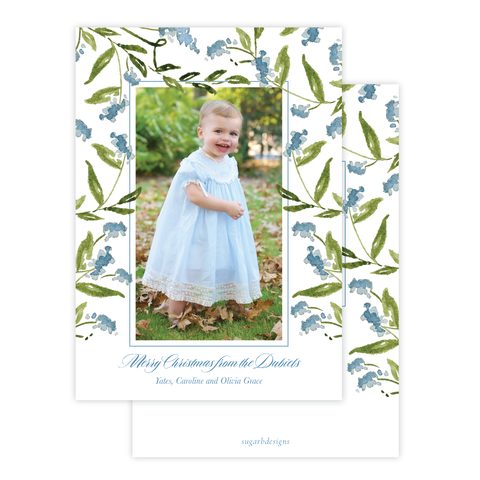 Masse Wreath Christmas Card Floral Portrait