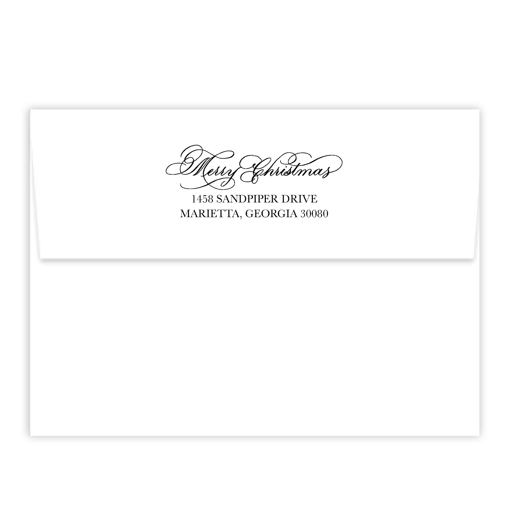 Merry Christmas Calligraphy Self Inking Stamp
