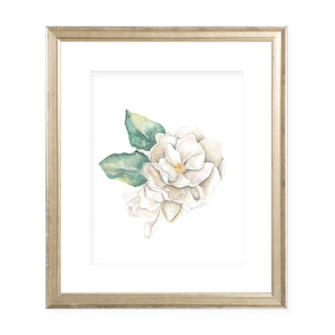 Magnolia Watercolor Print