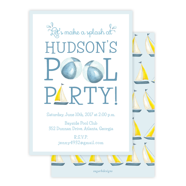 Make a Splash Boy Birthday Invitation