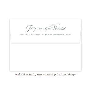 Manger Miracle Christmas Return Address Print