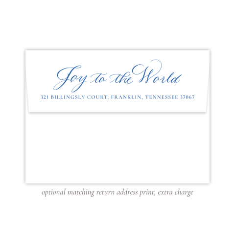 Manger Miracle Blue Christmas Return Address Print