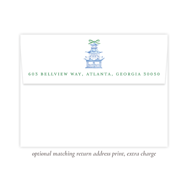 Marella Manor Green Flat Stationery