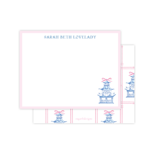 Marella Manor Pink Flat Stationery