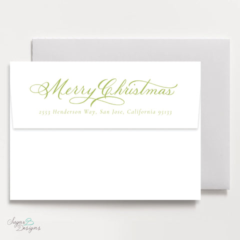 Very Mason Wreath Green Return Address Print