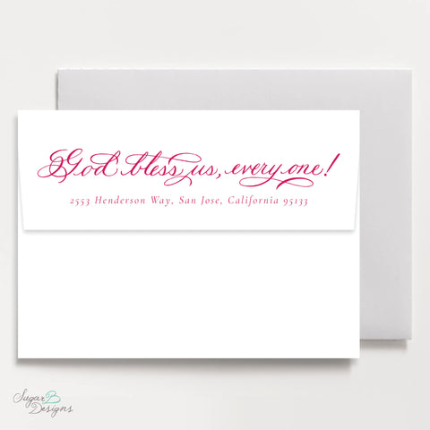 Very Mason Wreath Pink Return Address Print