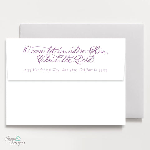 Very Mason Wreath Purple Return Address Print