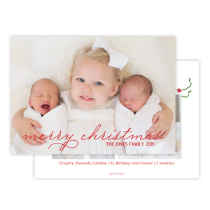 McFarland Christmas Landscape Red Text Christmas Card