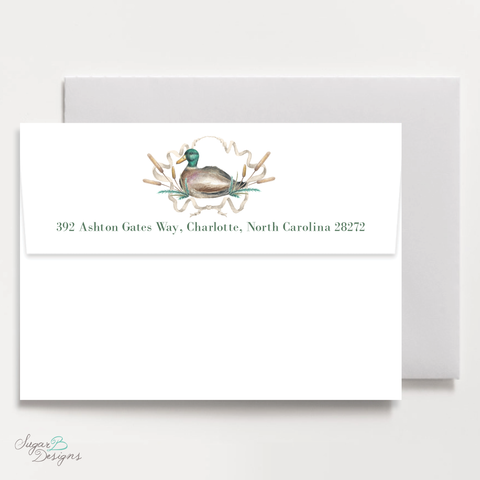 Merry Mallard Return Address Print