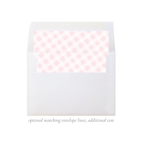 Mini Pink Bow A7 Square Envelope Liner
