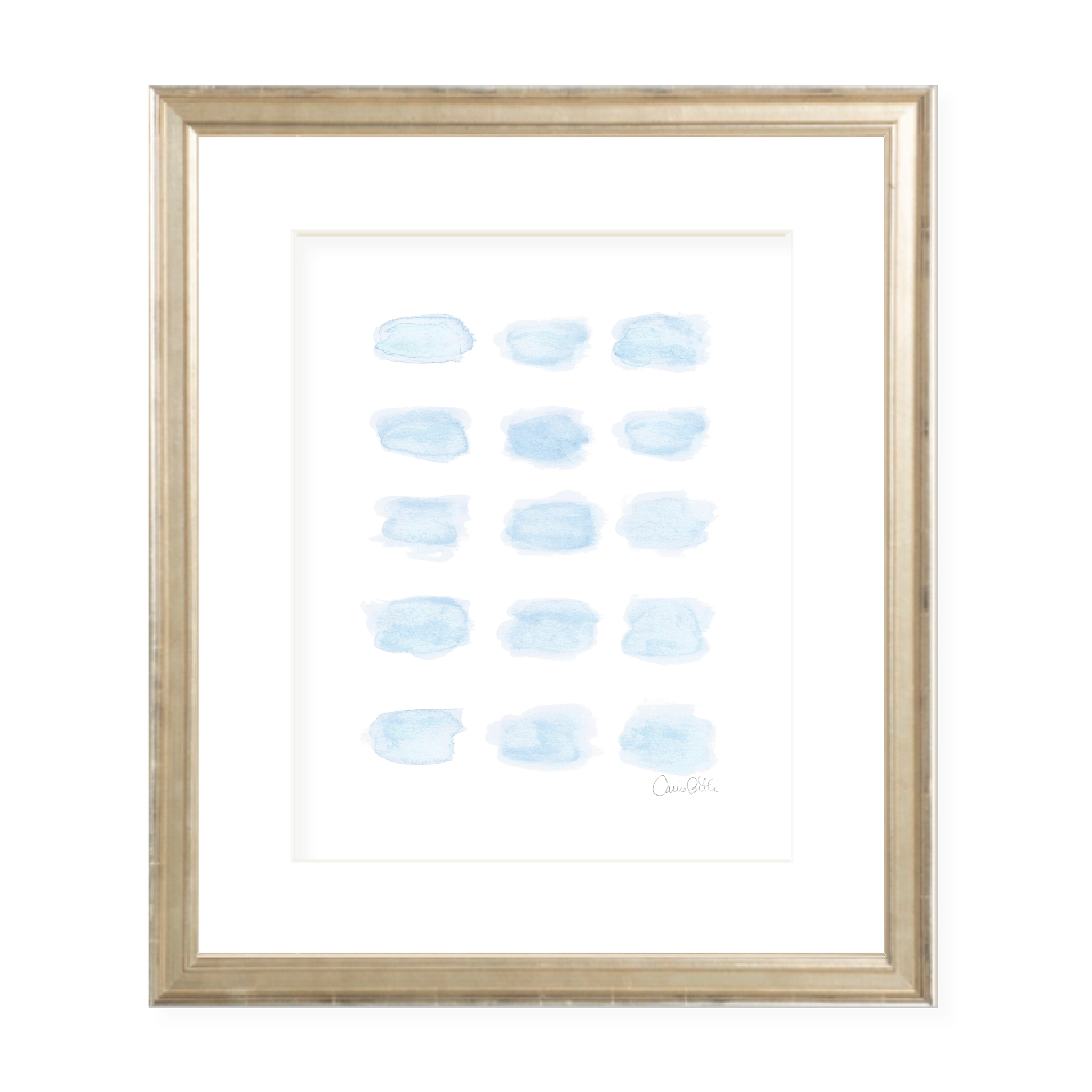 Momma's Love Blue Watercolor Print by Sugar B Designs