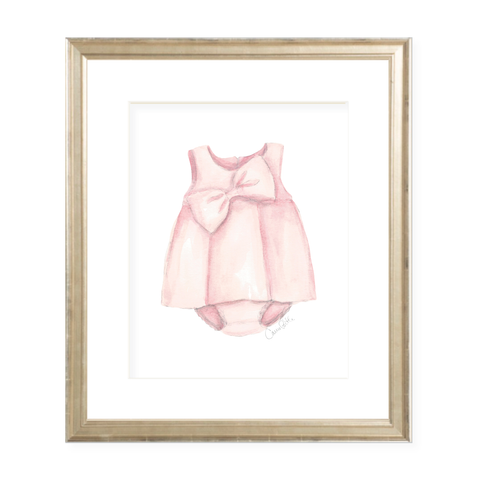 Mulberry Dress Watercolor Print