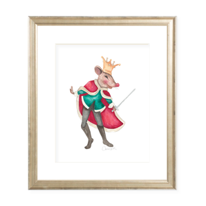 Nutcracker Mouse King Christmas Art Print