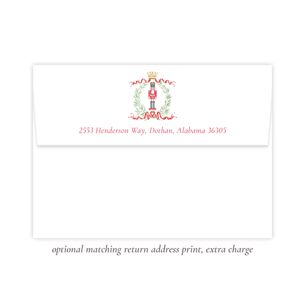 Nutcracker Royal Wreath Vertical Christmas Card