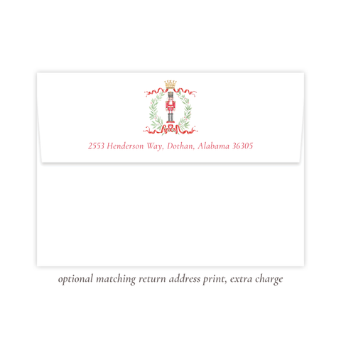 Nutcracker Royal Return Address Print
