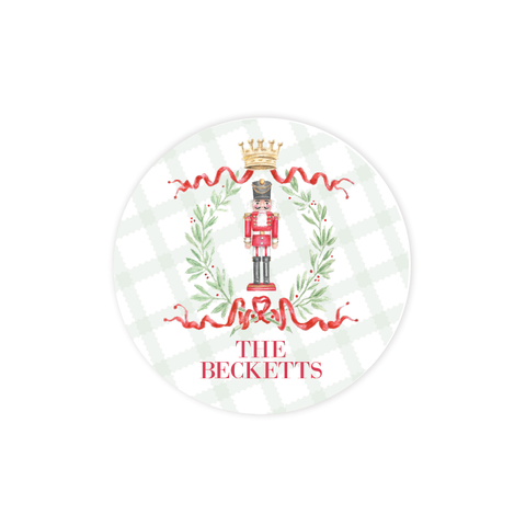 Nutcracker Royal Wreath Round Sticker