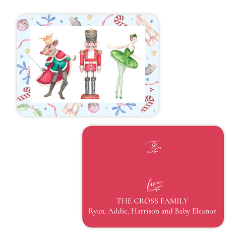 Nutcracker Suite 4 Bar Christmas Gift Tag