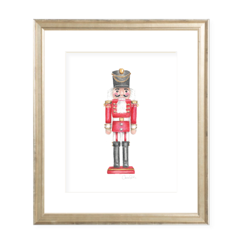 Nutcracker Christmas Art Print