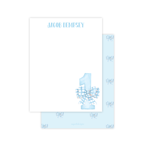 One-Derful Blue Flat Stationery
