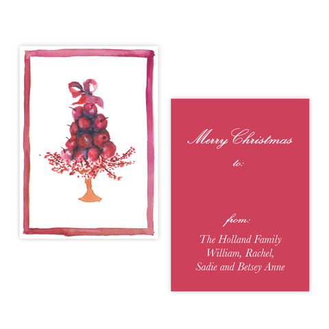 Paradise Apples Christmas 4 Bar Christmas Gift Tag